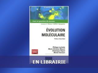 """Nouvel ouvrage : """"Evolution Moléculaire"""""""