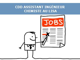 Offre de CDD Assistant Ingénieur Chimiste au LISA