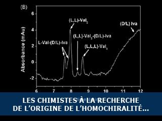 Les chimistes à la recherche de l'origine de l'homochiralité…
