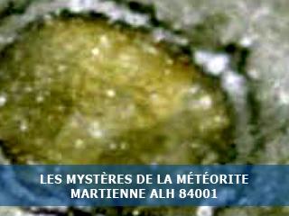 Les mystères de la météorite martienne…