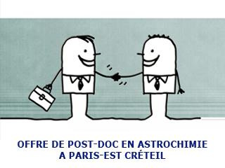 Position post-doctorale en astrochimie à l'Université Paris Est Créteil