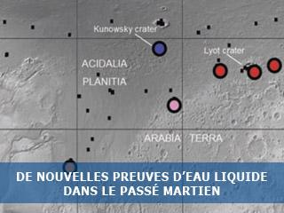 De nouvelles preuves d'eau liquide dans le passé Martien…