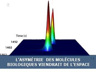 L'asymétrie « naturelle » des molécules biologiques viendrait de l'espace
