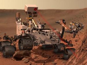 Curiosity à la surface de Mars (c) Nasa