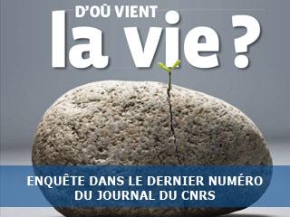"""Enquête dans le journal du CNRS : """"D'où vient la vie ?"""""""