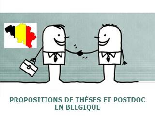 Propositions de Thèses et Postdoctorats en Belgique (Liège)