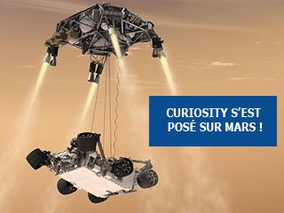 Curiosity s'est posé à la surface de Mars