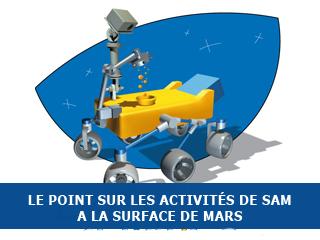 Le point sur les activités de l'instrument SAM sur Mars