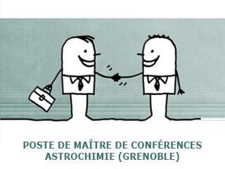 Poste de Maître de Conférences en Astrochimie à l'IPAG / Grenoble