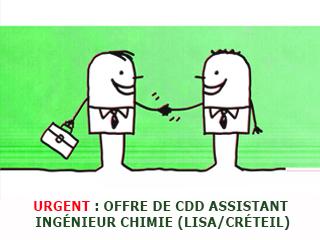 OFFRE DE CDD – Assistant Ingénieur Chimie Analytique (LISA/Créteil)