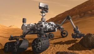 Le rover Curiosity à la surface de Mars. (c) Nasa