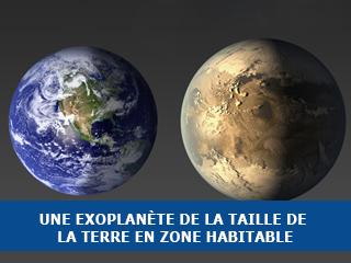 Découverte de la première exoplanète de la taille de la Terre dans la zone habitable d'une étoile