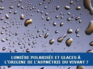 Lumière polarisée circulairement et glaces circumstellaires : une possible origine de l'asymétrie des molécules du vivant sur Terre