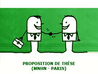 Proposition de Thèse au Muséum National d'Histoire Naturelle, Paris