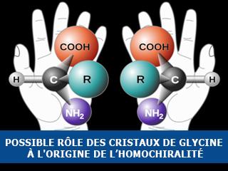 Possible rôle des cristaux de glycine à l'origine de l'homochiralité