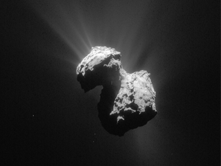 La comète 67P vue par la sonde Rosetta le 7 Juillet 2015