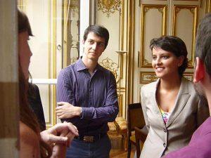 Aurélien Fresneau et Najat Vallaud-Belkacem