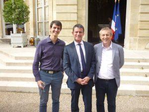 Aurélien Fresneau, Manuel Valls et Thierry Chiavassa
