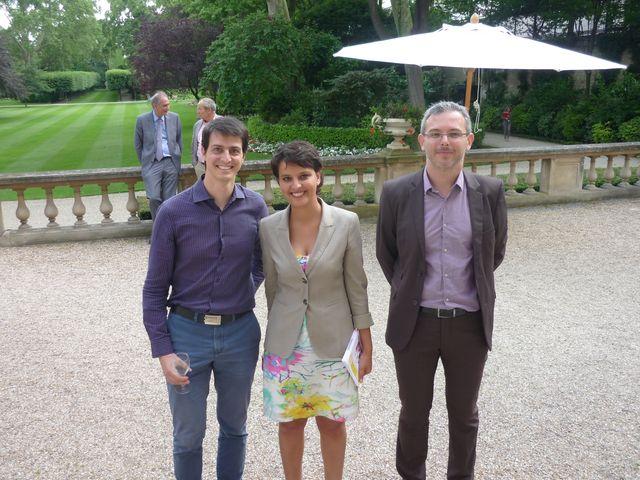 Aurélien Fresneau, Najat Vallaud-Belkacem et Grégoire Danger