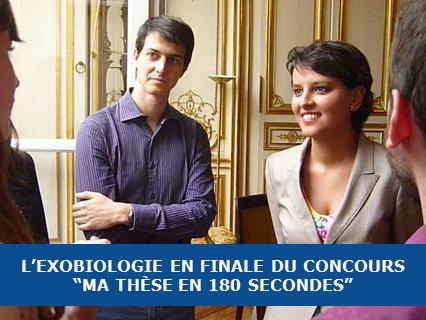 """L'exobiologie en finale de """"Ma Thèse en 180 secondes"""""""