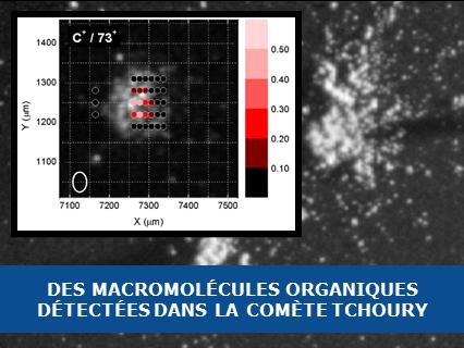 Des macromolécules organiques détectées par Rosetta dans la comète Tchoury