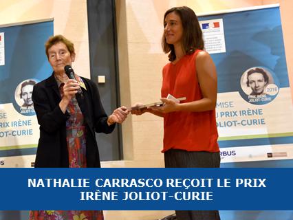Nathalie Carrasco reçoit le prix Irène Joliot-Curie