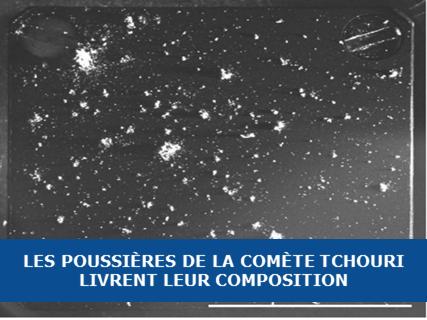 Les poussières de la comète Tchouri livrent le secret de leur composition