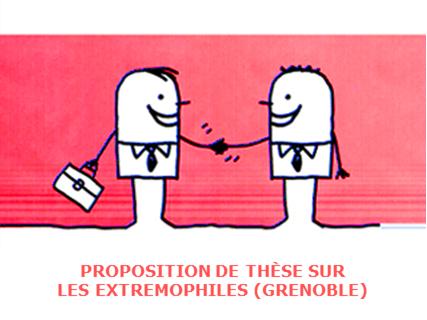 Proposition de thèse à Grenoble sur les extrémophiles