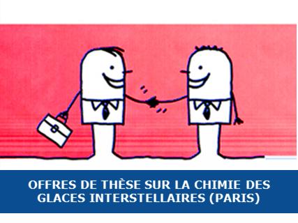 Thèse sur la chimie des glaces interstellaires (Paris)