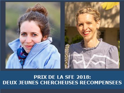Prix de la SFE 2018: deux jeunes chercheuses récompensées