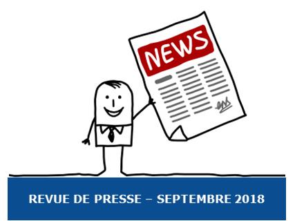 La revue de Presse Exobio – Septembre 2018