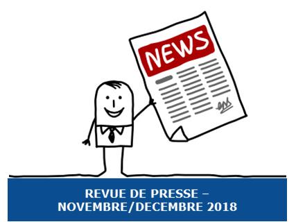 La revue de Presse Exobio – Novembre et Décembre 2018