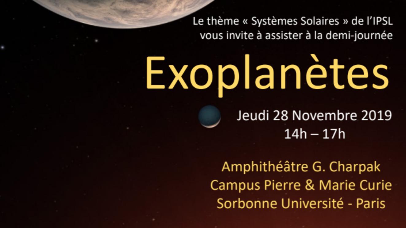 """Demi-journée """"Exoplanètes"""" de l'IPSL"""
