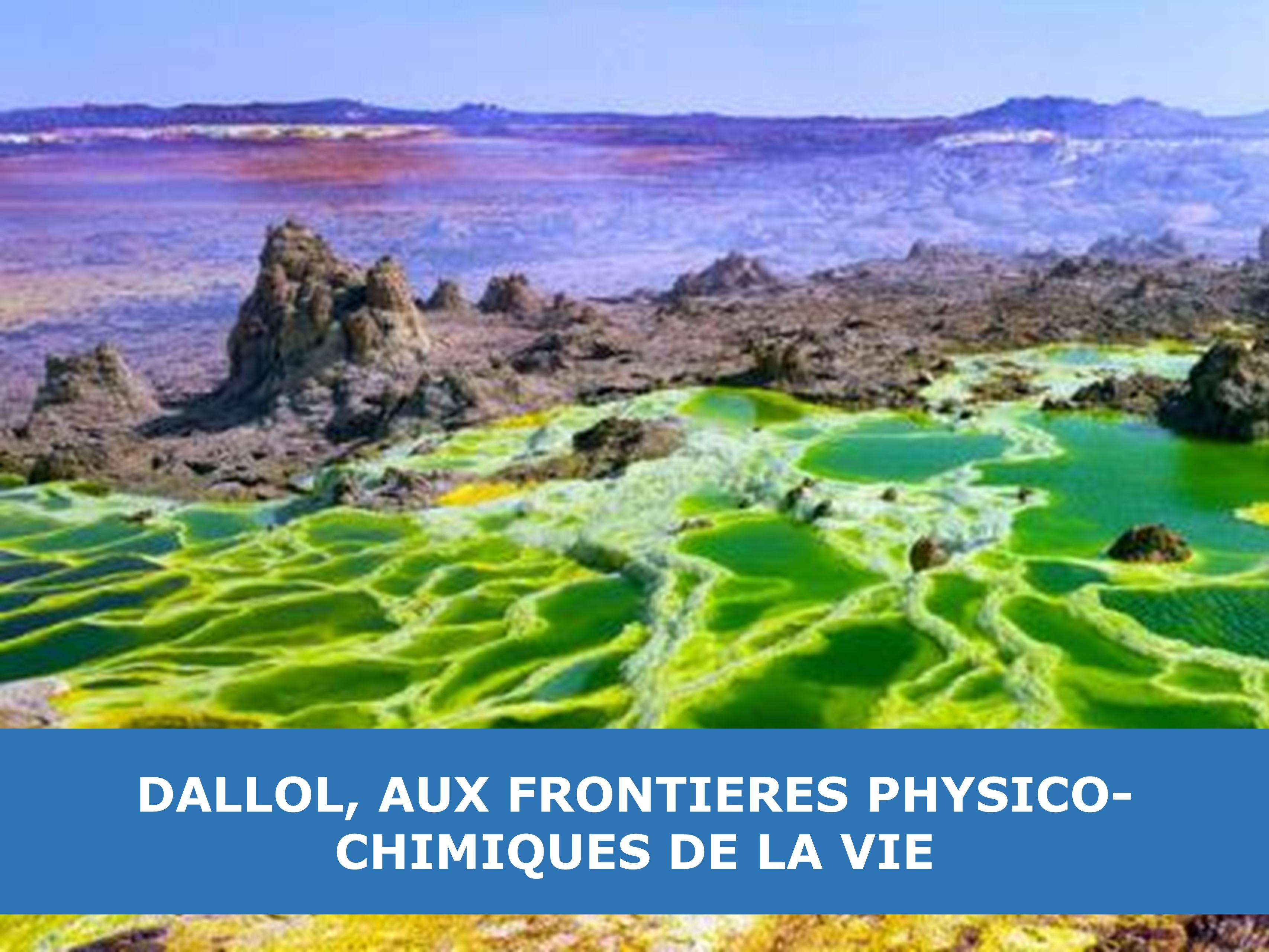 Dallol, aux frontières physico-chimiques de la vie