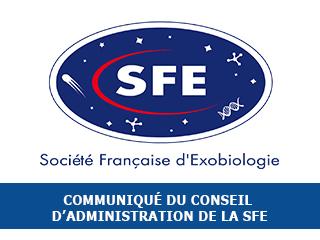 Communiqué du conseil d'administration de la Société Française d'Exobiologie