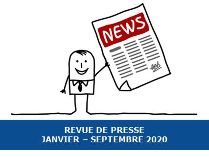 Revue de presse Exobio – Janvier à Septembre 2020