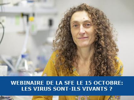 Webinaire de la SFE : les virus sont-ils vivants ?