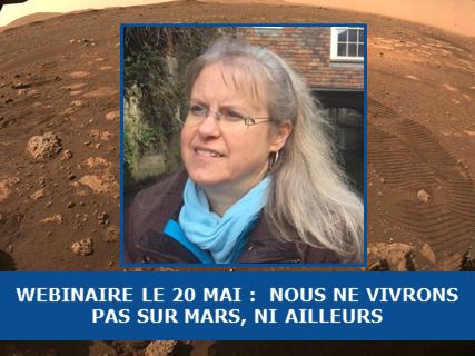 Announcement: Webinaire SFE : Nous ne vivrons pas sur Mars, ni ailleurs