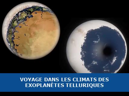 Voyage dans les climats des exoplanètes telluriques