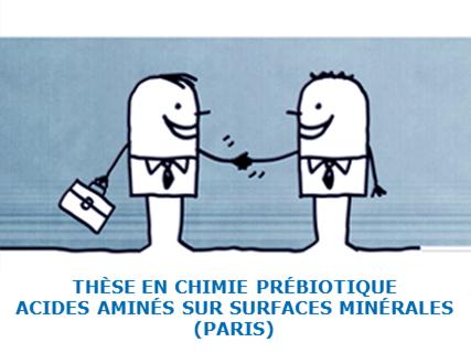 Proposition de thèse en chimie prébiotique : acides aminés sur surfaces minérales