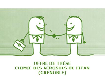 Proposition de thèse : évolution chimique des aérosols de Titan