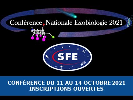 Announcement: Conférence Nationale d'Exobiologie, 11-14 octobre 2021, Marseille